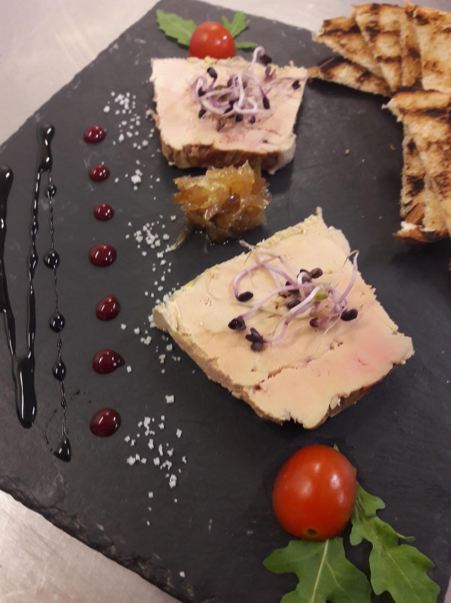 Fois gras maison à la carte