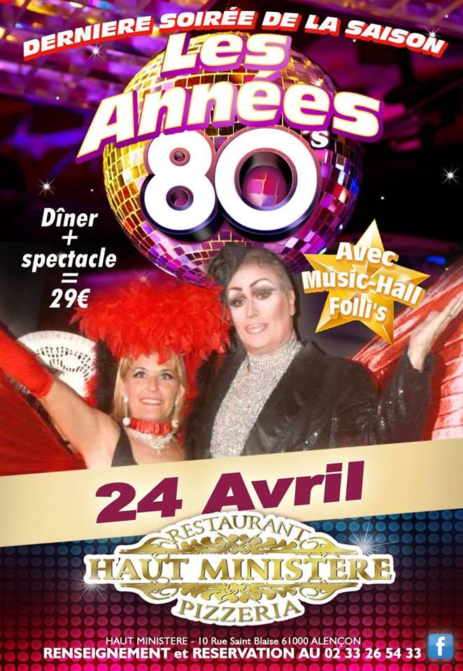 Soirée Cabaret Année 80
